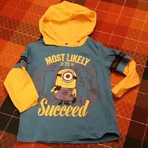Despicable Me minion long-sleeve hoodie shirt